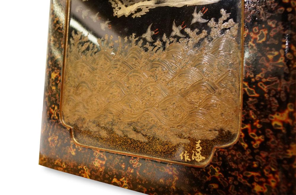 一見古美術生活 ‧ 難得一見 【滿月飛鳥蒔繪漆器盒】