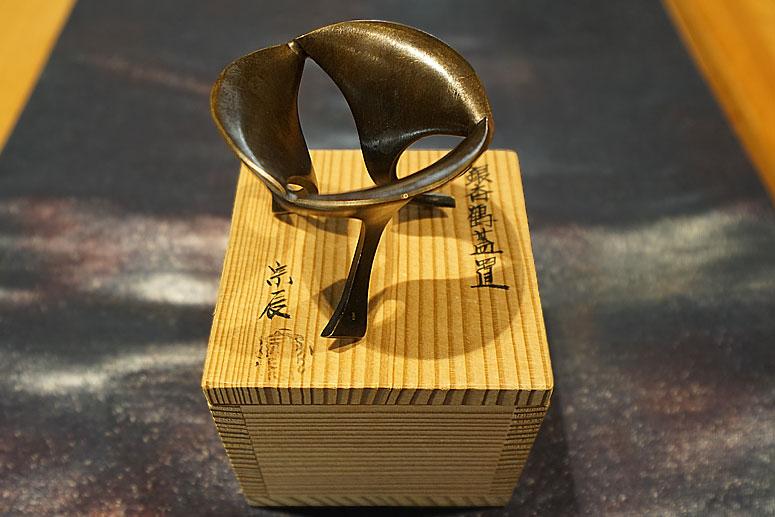 昭和時期‧瀨宗辰制‧銀杏鶴蓋置